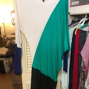 BCBG three color dress...White Green Black Blue